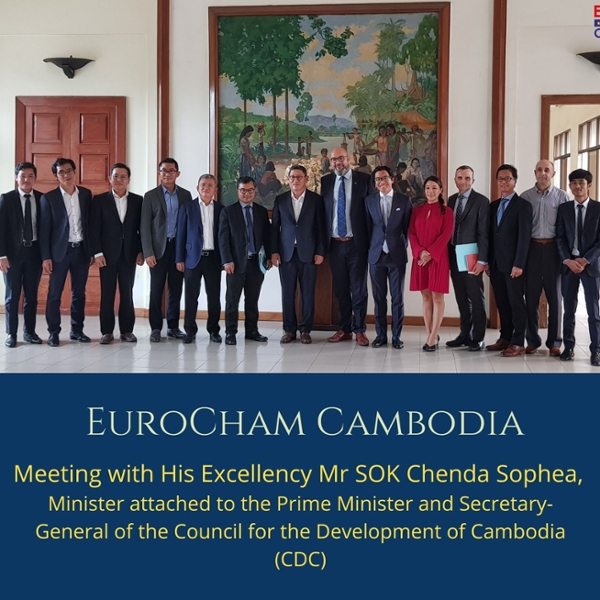 Meeting with His Excellency Mr SOK Chenda Sophea, Minister attached to the Prime Minister and Secretary-General of the Council for the Development of Cambodia (CDC)