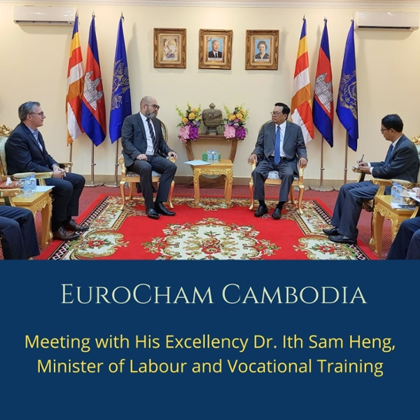 Meeting with His Excellency Dr. Ith Sam Heng, Minister of Labour and Vocational Training