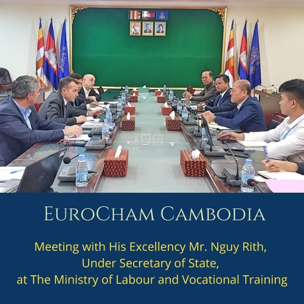 Meeting with His Excellency Mr Nguy Rith, Under Secretary of State, at the Ministry of Labour and Vocational Training
