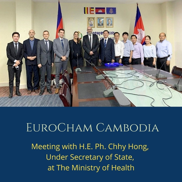 Meeting with H.E. Ph. CHHY Hong, Under Secretary of State, at the Ministry of Health